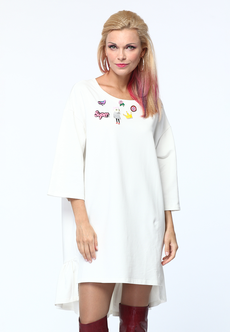 Повседневное платье KATA BINSKA ALAN5911-белый-onesize