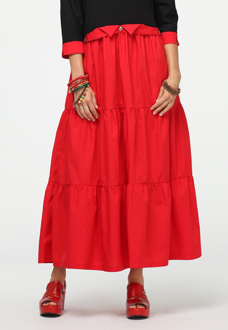 Повседневное платье KATA BINSKA ALISA5710-черный/красный-48-52
