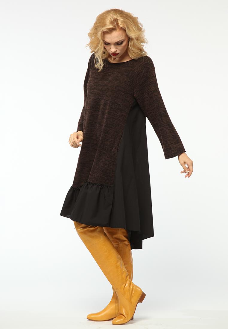 Повседневное платье KATA BINSKA LIRA1550-коричневый/меланж-46-48