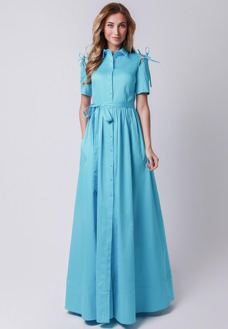 Повседневное платье Olga Skazkina (Ольга Сказкина) 170502_голубой_40