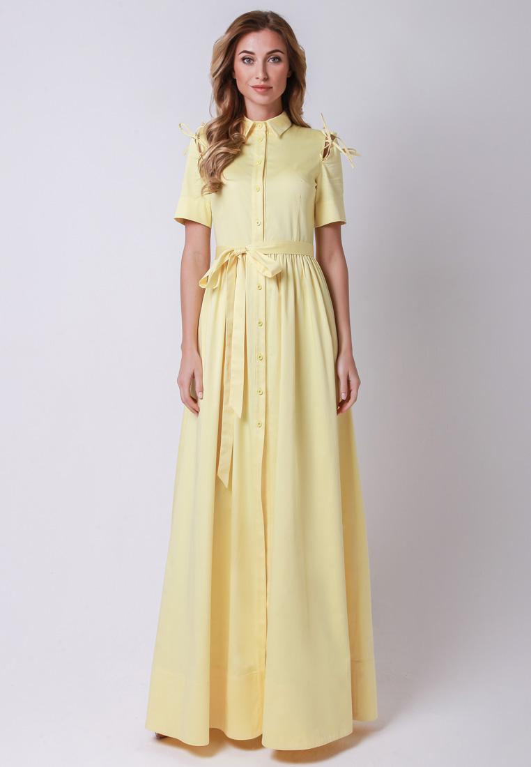 Повседневное платье Olga Skazkina (Ольга Сказкина) 170502_желтый_40