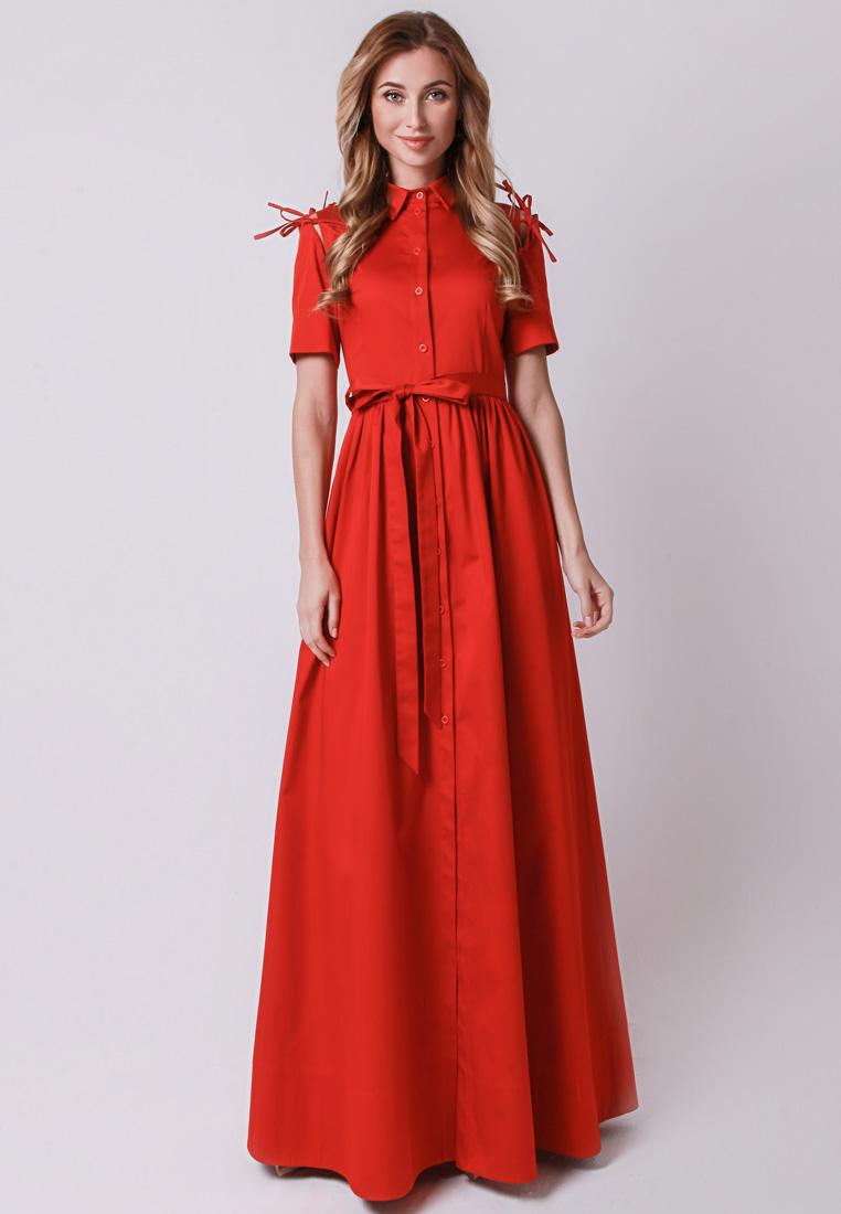 Платье-макси Olga Skazkina 170502_красный_40