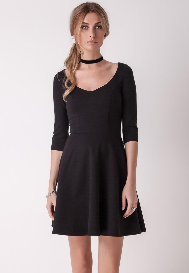 Повседневное платье Olga Skazkina 160806_черный_40