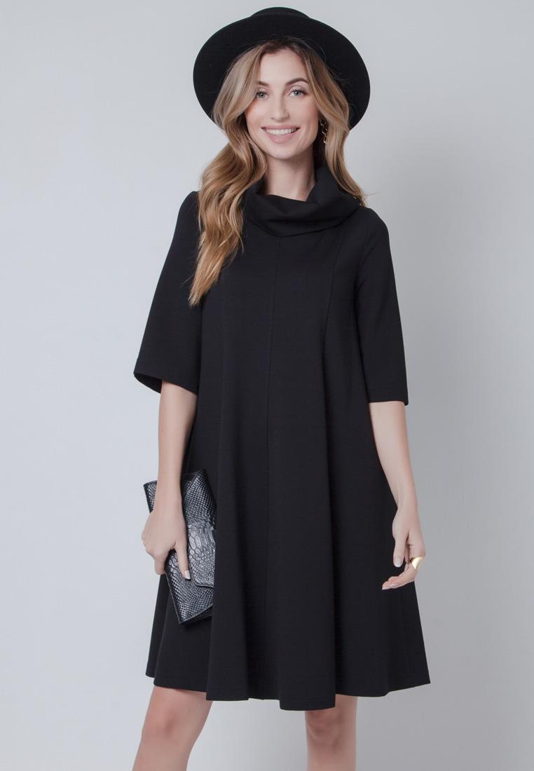 Повседневное платье Olga Skazkina 160805_ЧЕРНЫЙ_40