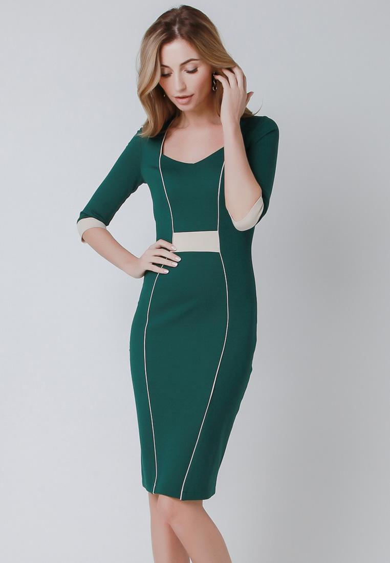 Деловое платье Olga Skazkina (Ольга Сказкина) 160602_зеленый_40