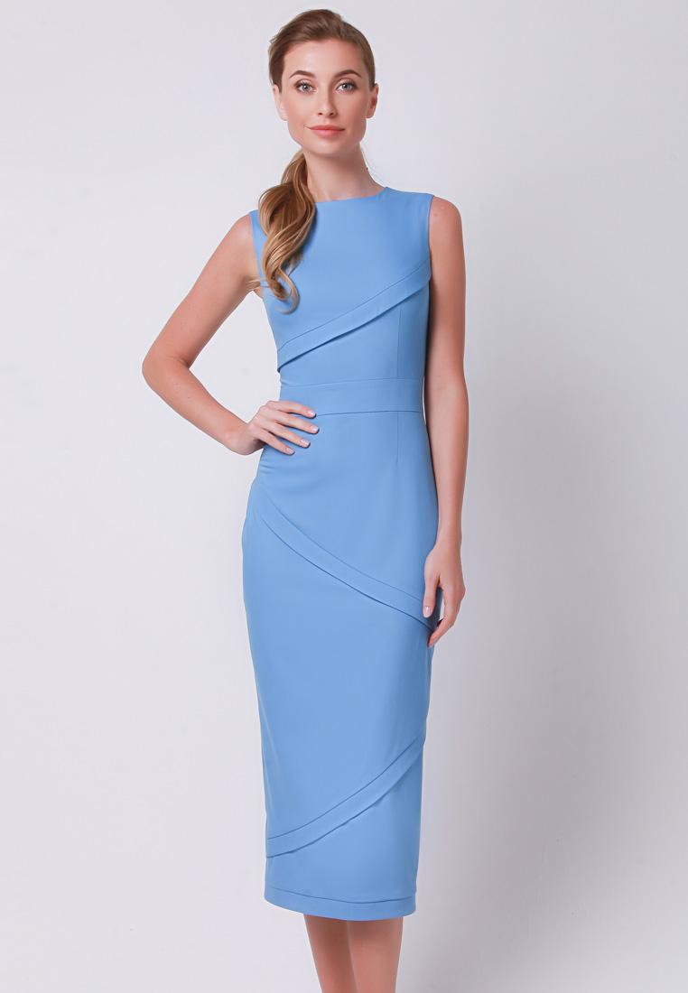 Деловое платье Olga Skazkina 170511_синий_42