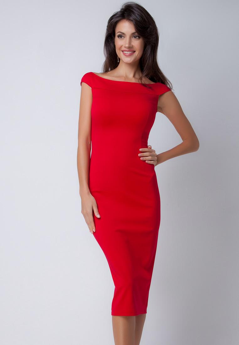 Повседневное платье Olga Skazkina (Ольга Сказкина) 160204_red_42