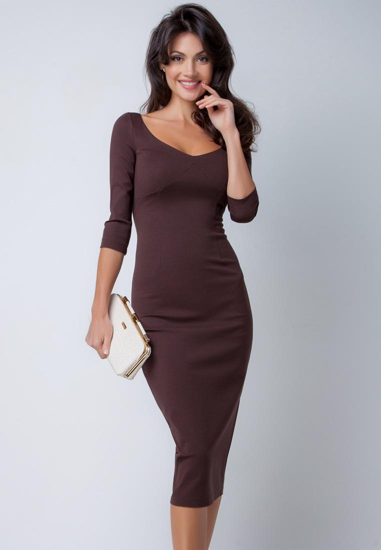 Деловое платье Olga Skazkina 160201_shokolad_40