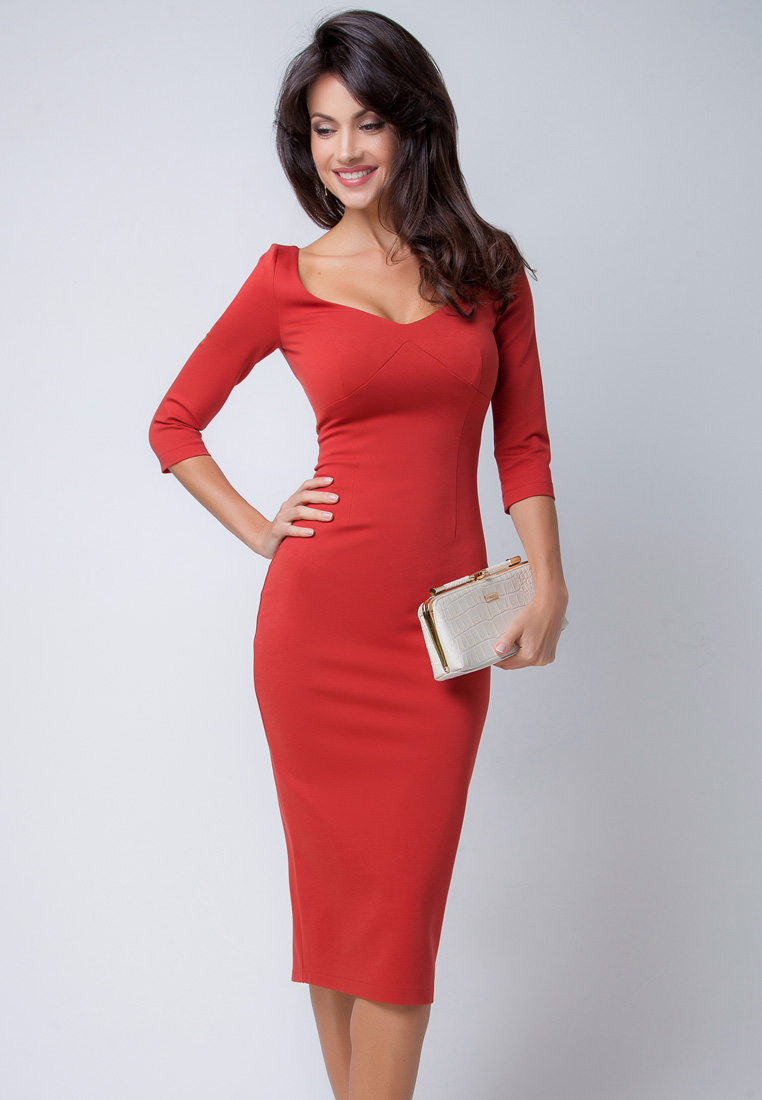 Повседневное платье Olga Skazkina (Ольга Сказкина) 160201_terracot_40