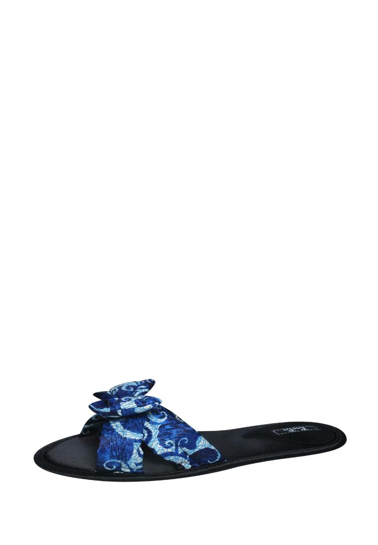 Женская домашняя обувь Petit Pas BBS017 синий в узор 36