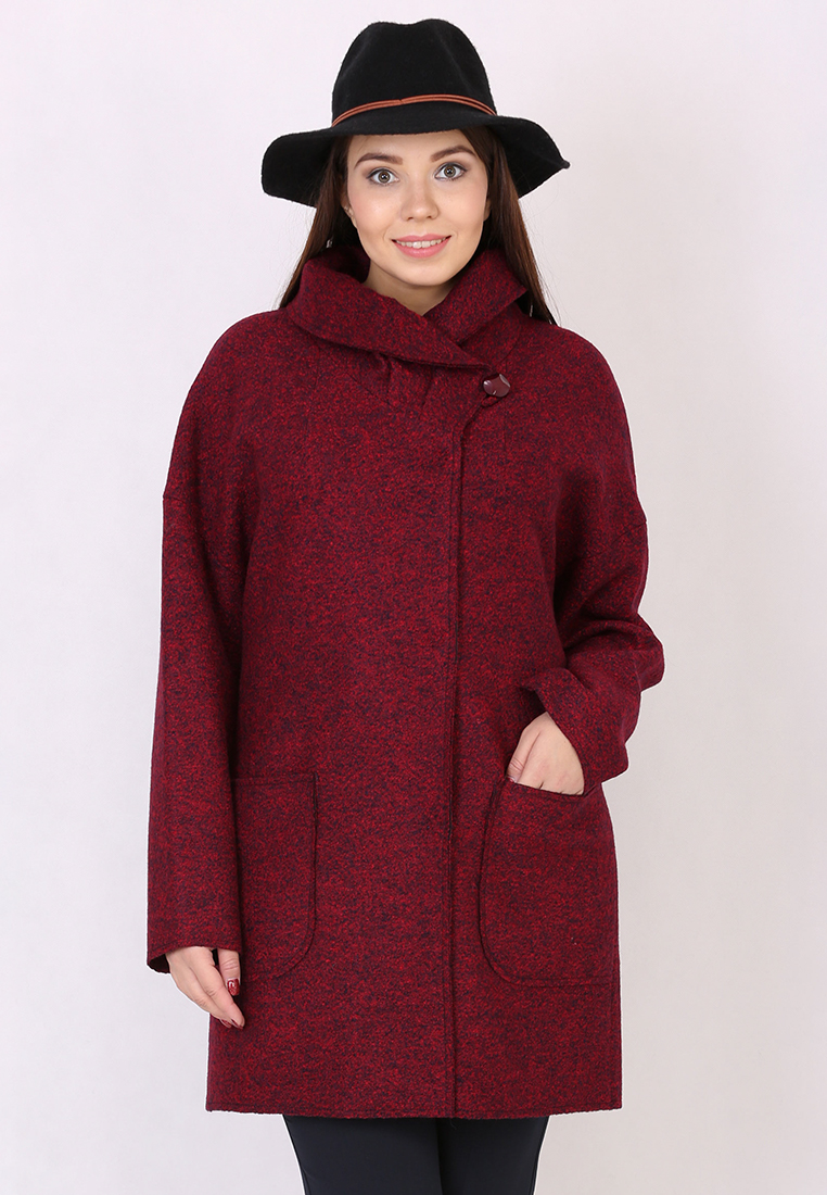 Женские пальто Trifo 7435-Бордово-синий-46/170