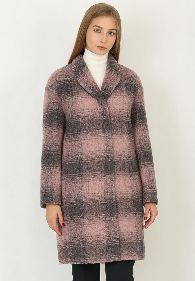 Женские пальто Trifo 7405-Розово-серая клетка-42/170