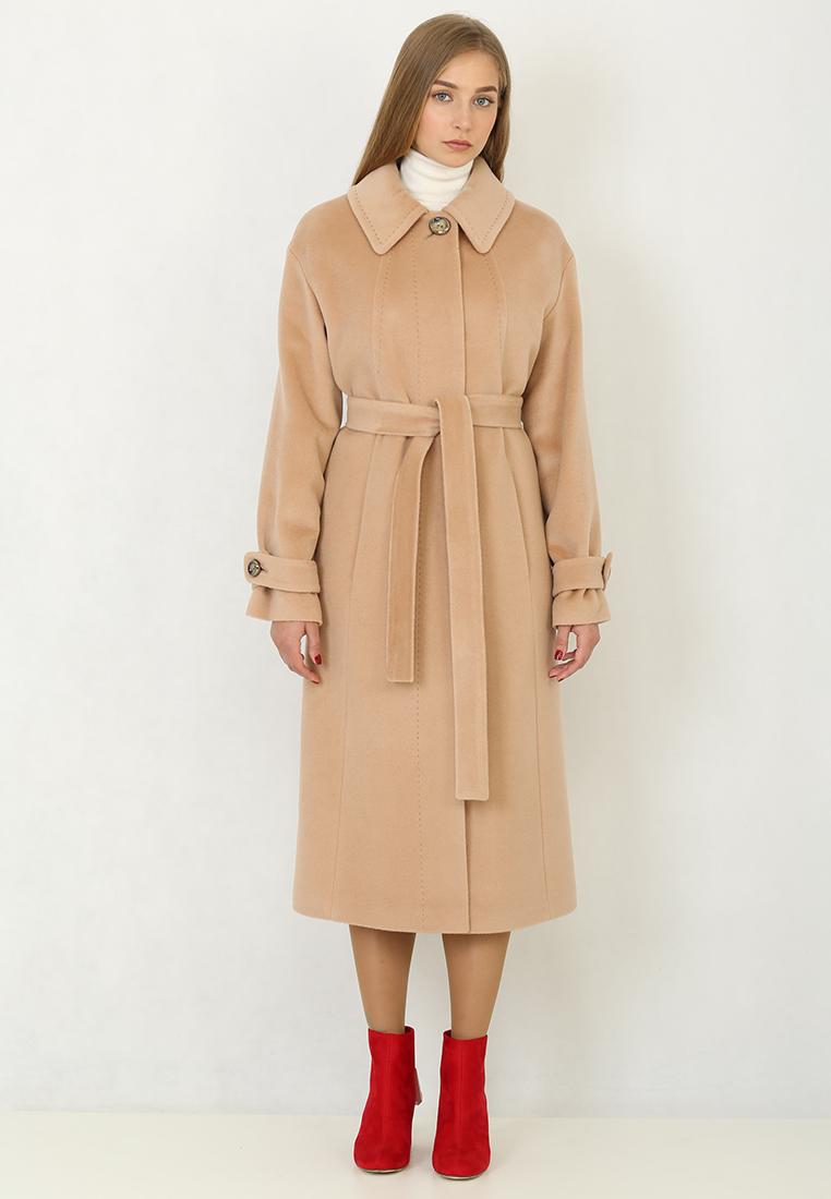 Женские пальто Trifo 7259-Бежевый-48/170