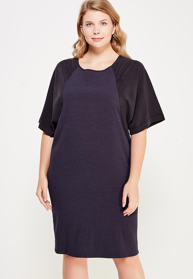 Вязаное платье Larro 1003-т.син-1