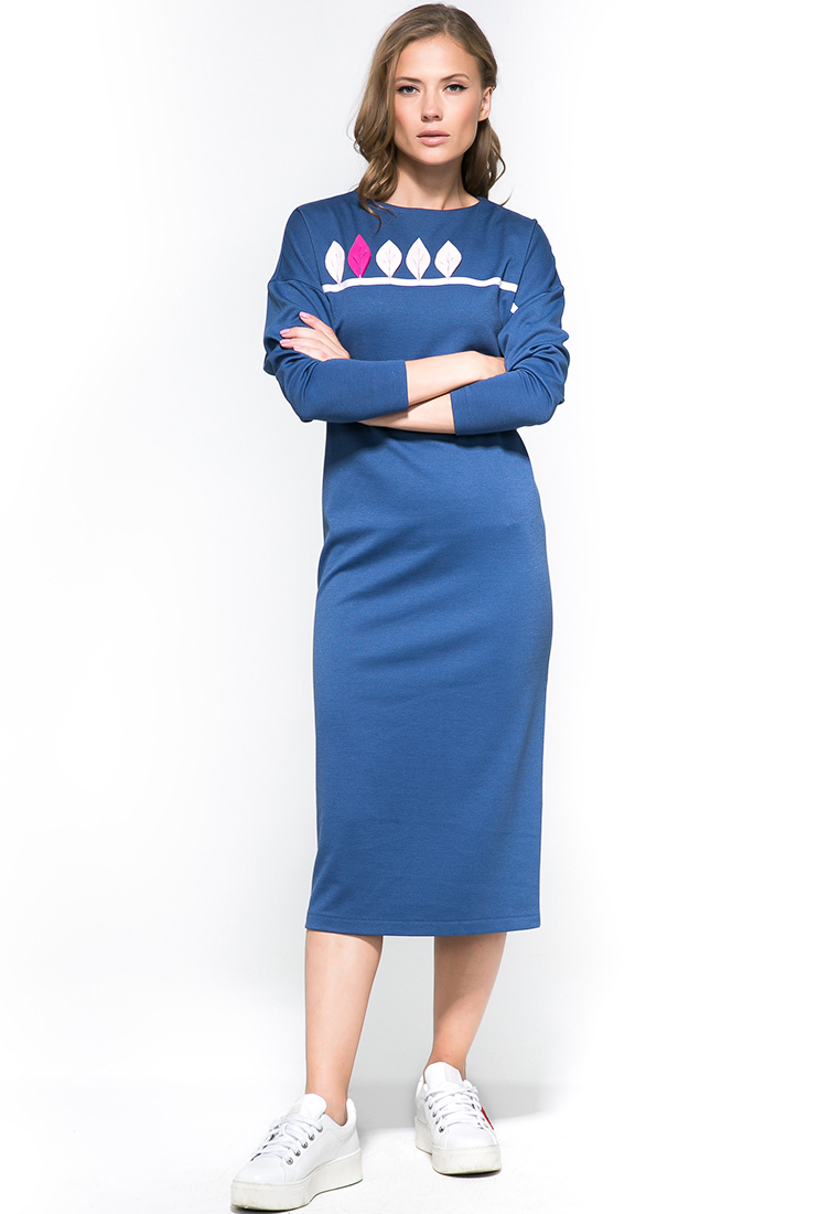 Платье-миди YULIA'SWAY D00161BLU-44