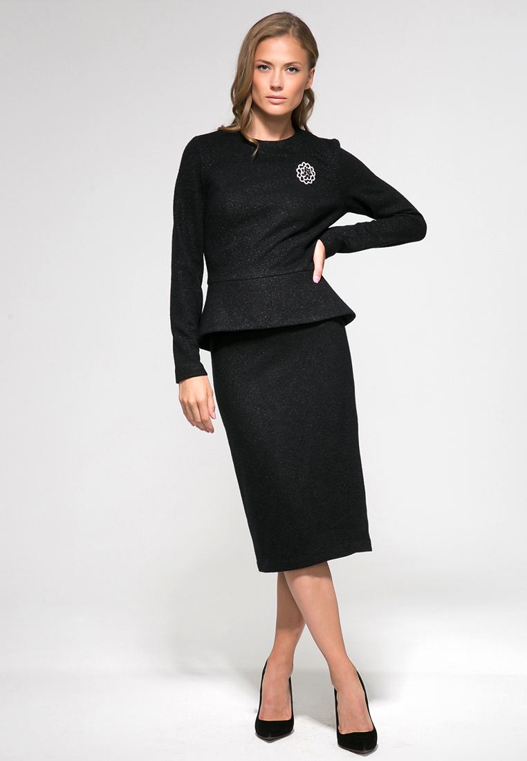 Прямая юбка YULIA'SWAY D00175BLK-44