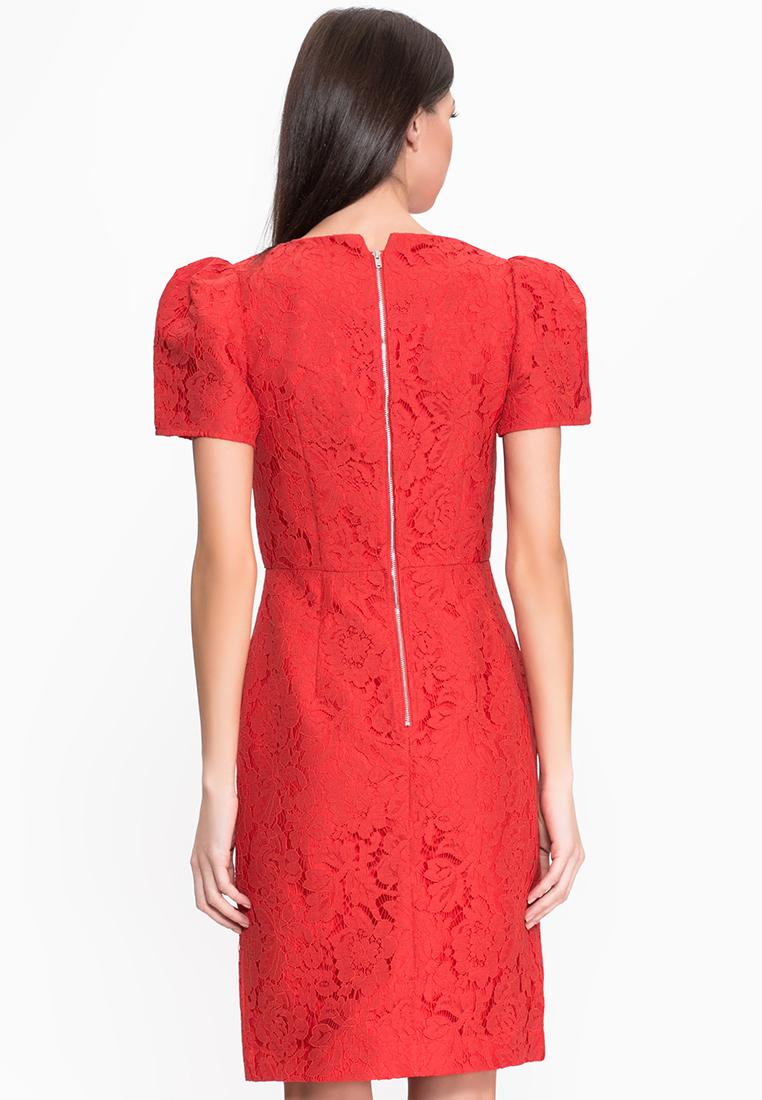 Платье-миди Cavo FW15CVMC014-1-red-S