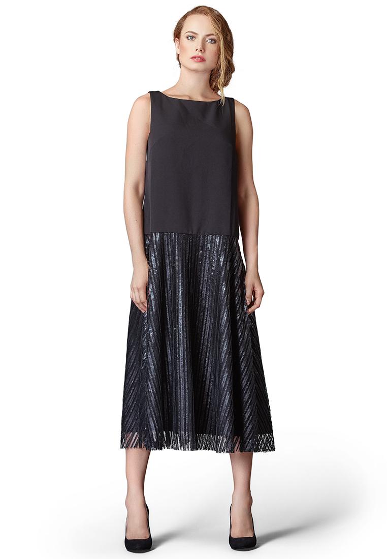 Платье-макси Cavo CVLP8005-black-S