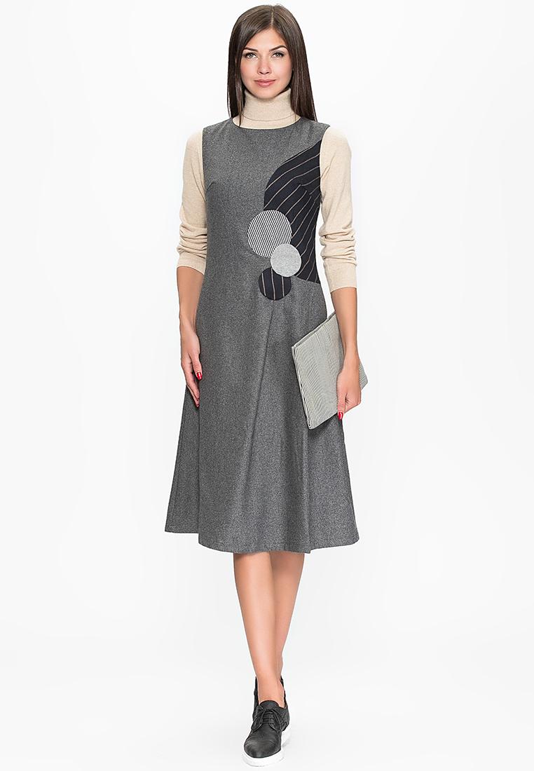 Повседневное платье Cavo CVMC1121-grey-S