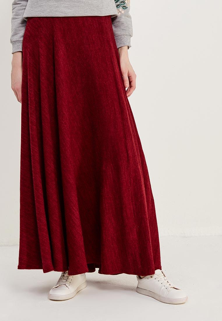 Широкая юбка Alina Assi 19-513-450-Maroon-3XL