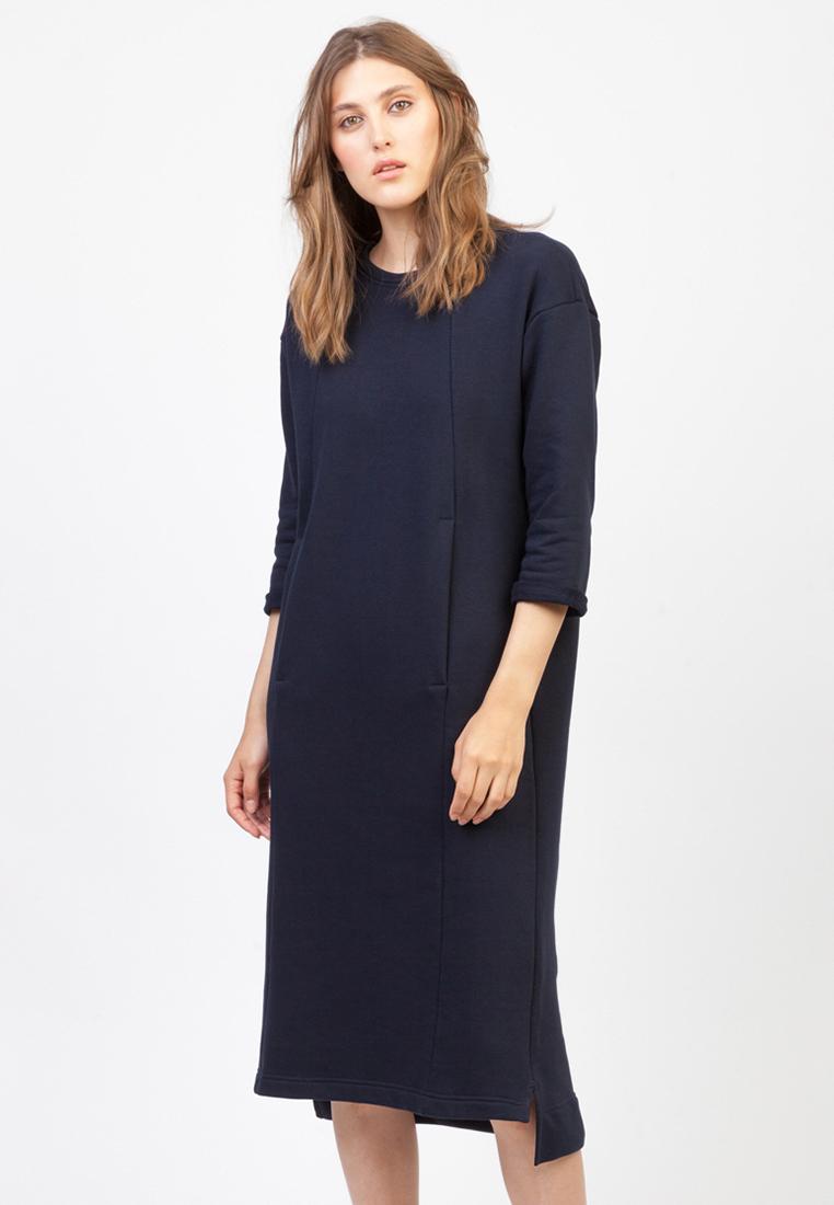 Повседневное платье MELLOW 11-406-01_temno-sinyi_onesize