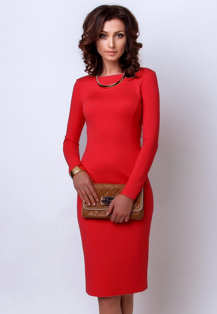 Повседневное платье Olga Skazkina (Ольга Сказкина) A130834_korall_40