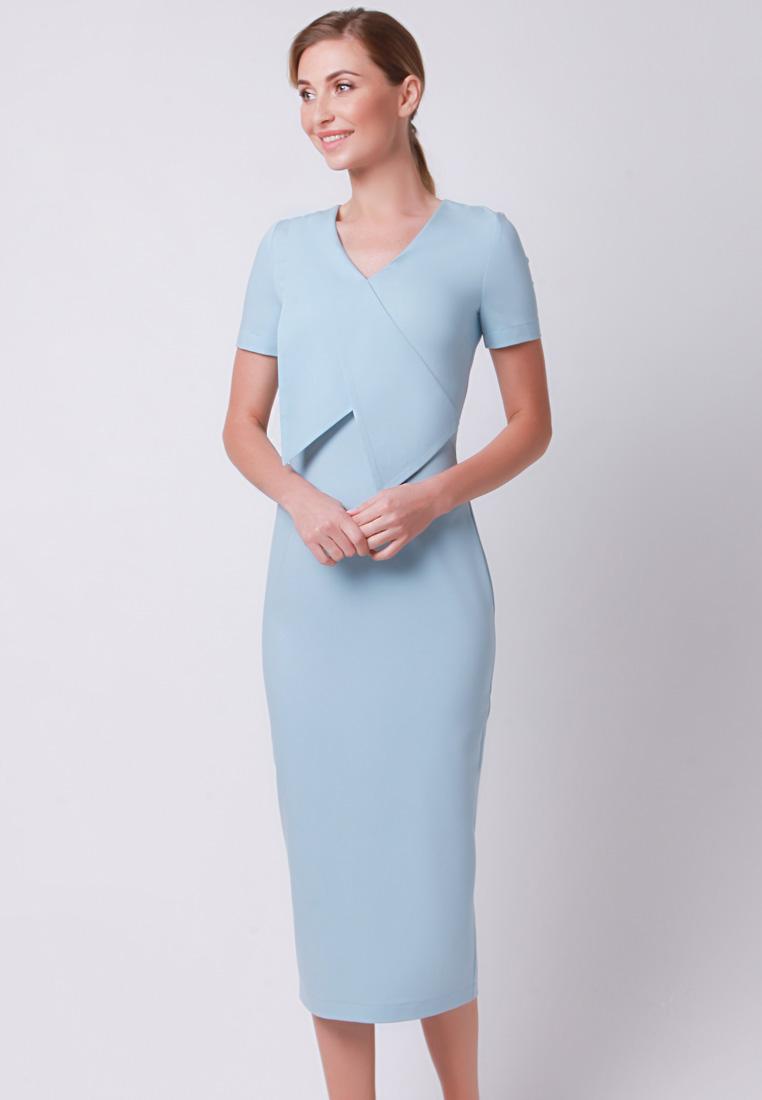Повседневное платье Olga Skazkina 170427_голубой_40