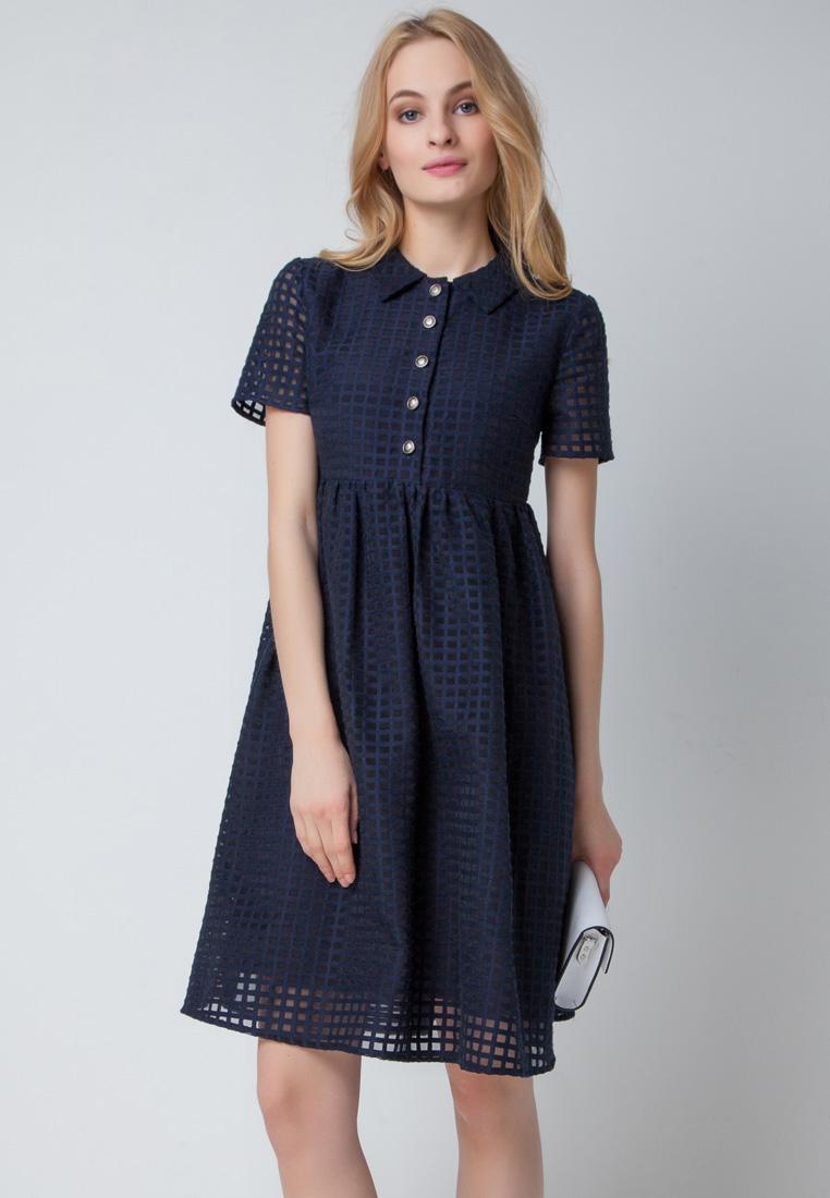 Повседневное платье Olga Skazkina 160210_siniy_40