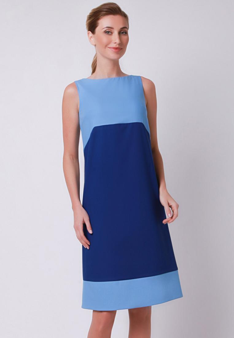 Повседневное платье Olga Skazkina 170430_темно-синий+синий_40