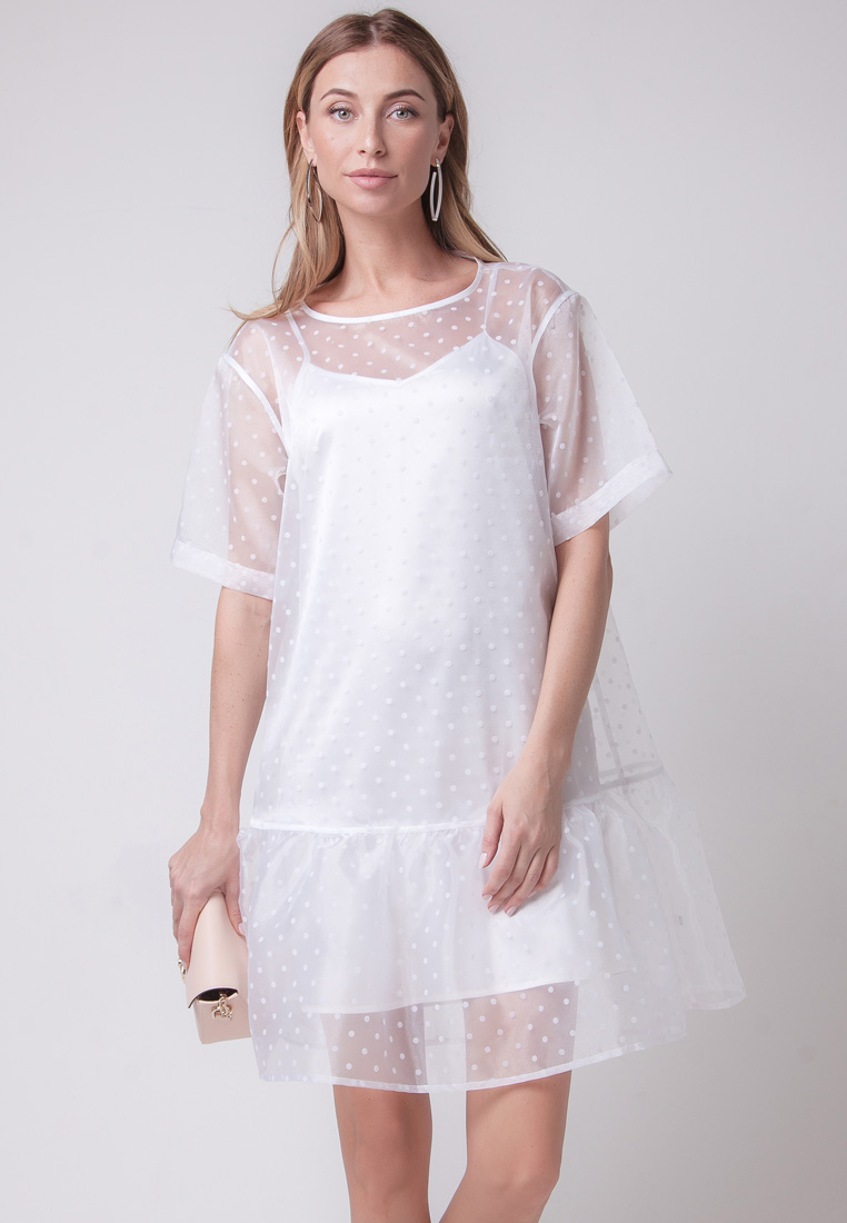 Платье-мини Olga Skazkina (Ольга Сказкина) 141102_белый_40