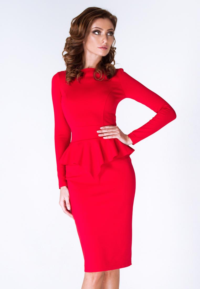 Вязаное платье Olga Skazkina (Ольга Сказкина) A131203_krasniy_40