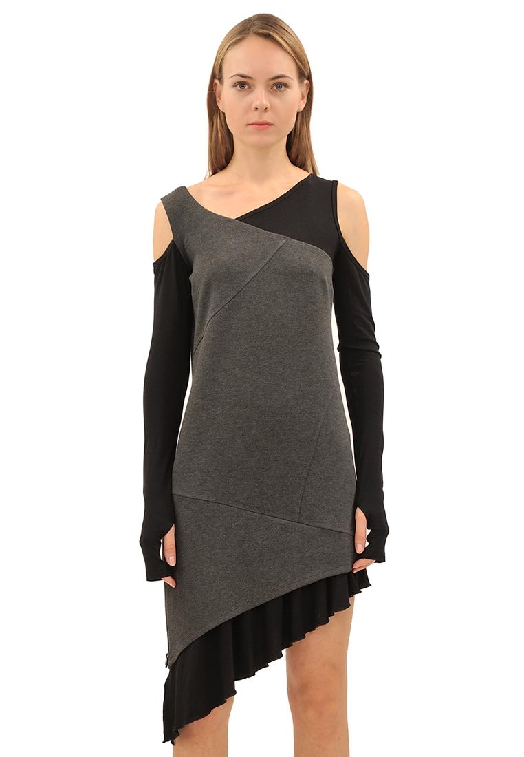 Вязаное платье Pavel Yerokin DRT-35-черный/серый-40