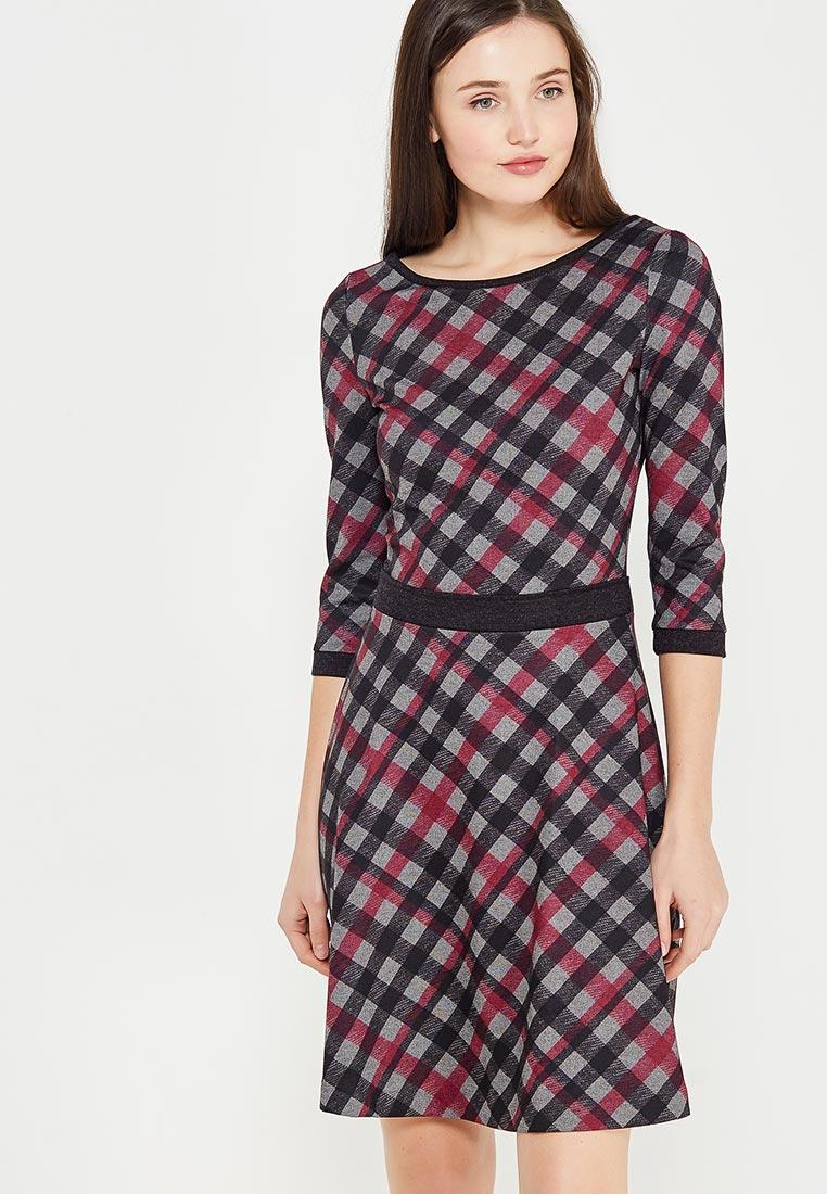 Платье Giulia Rossi 12-582/Серый/Малиновый44