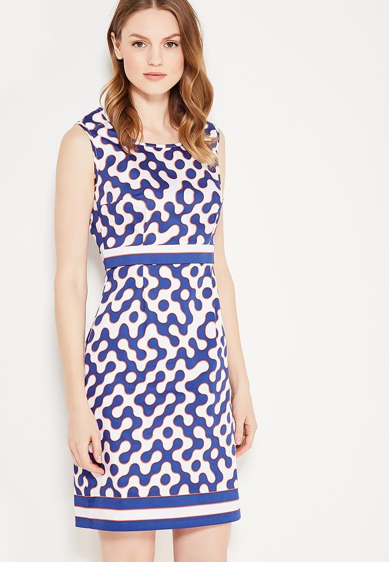 Платье Giulia Rossi 12-567/Белый/Синий42