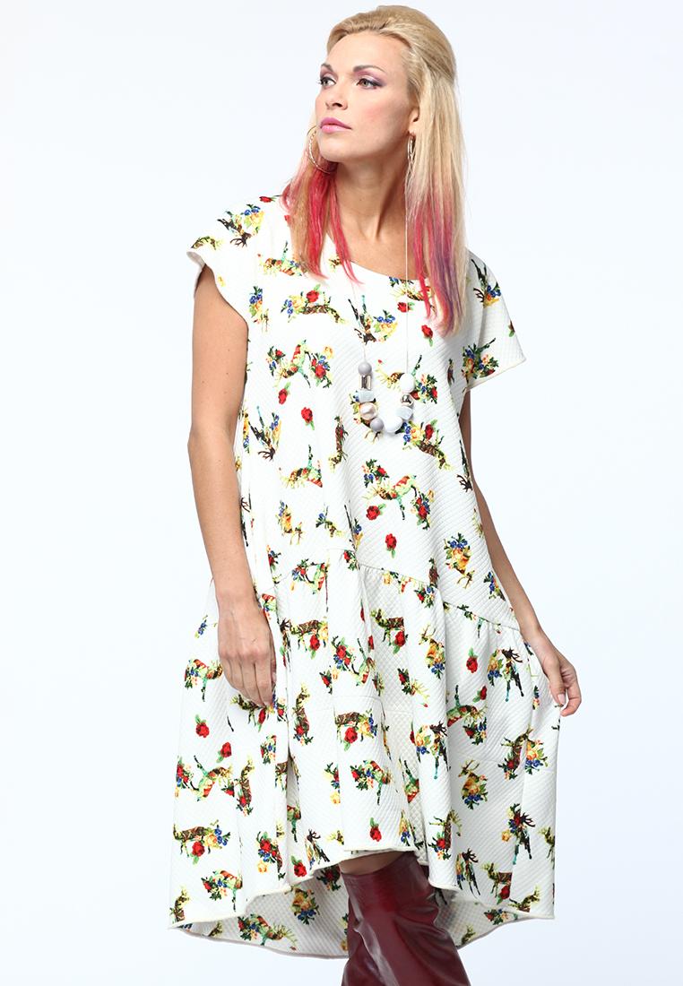 Повседневное платье KATA BINSKA ANI2902-белый-46-48