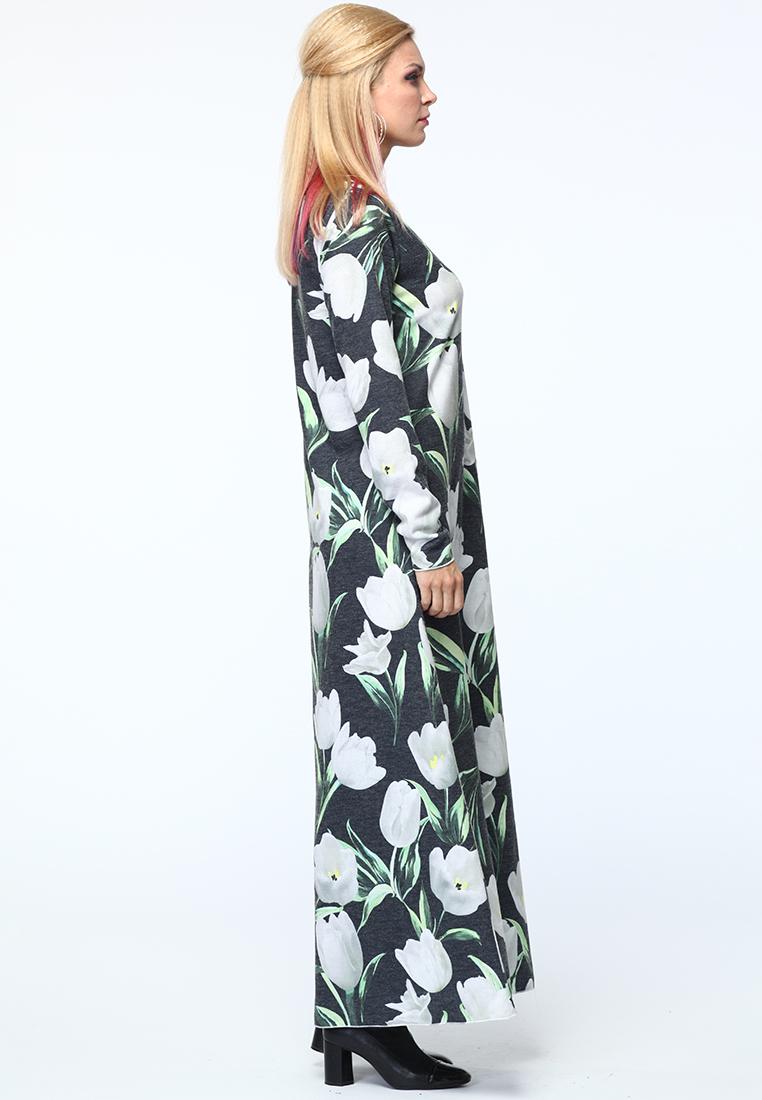 Вязаное платье KATA BINSKA LAMI5502-т.синий/белый-46-48