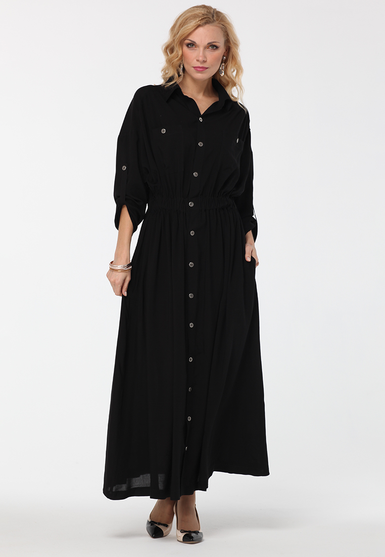 Платье-макси KATA BINSKA ALITA8740-черный-44-48