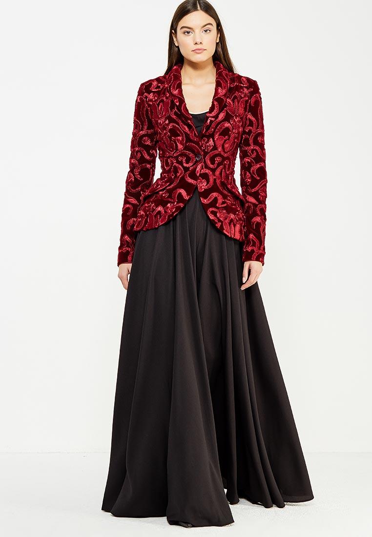 Костюм с брюками to be bride ND091B-бордовый-2-(компл.: юбка-брюки, жакет)