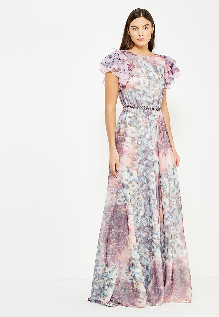 Платье-макси to be bride TB059B-мультиколор-2-(компл.: платье)