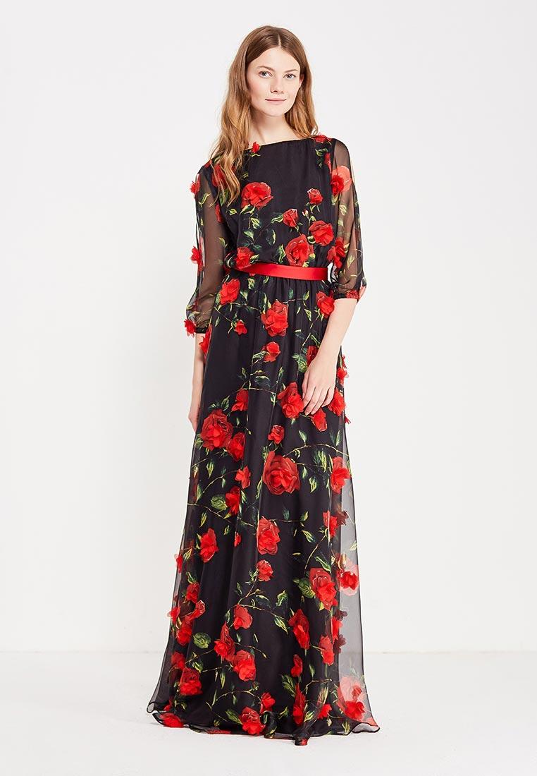 Платье-макси to be bride ND155B-мультиколор-4-(компл.: платье, пояс)