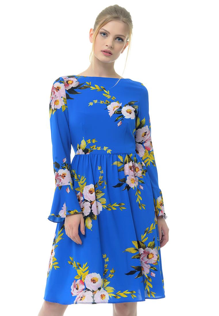 Повседневное платье Arefeva Платье L9123 синий L