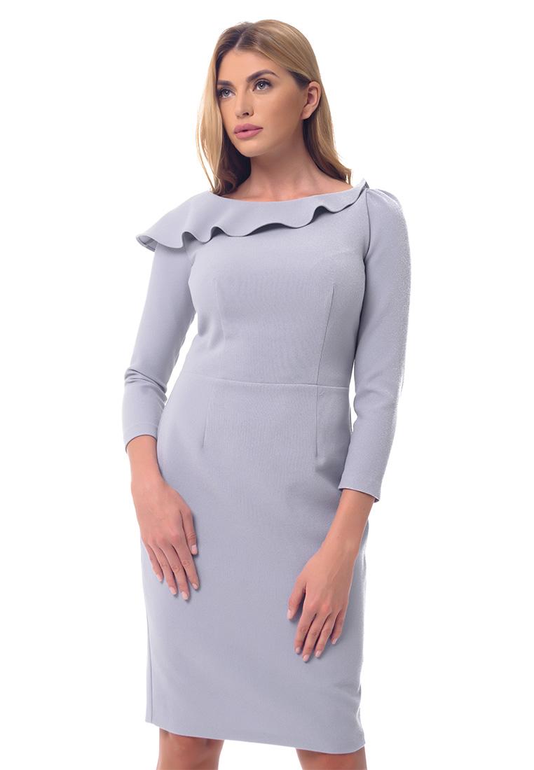 Платье-миди GENEVIE Платье L9559 Серый  L