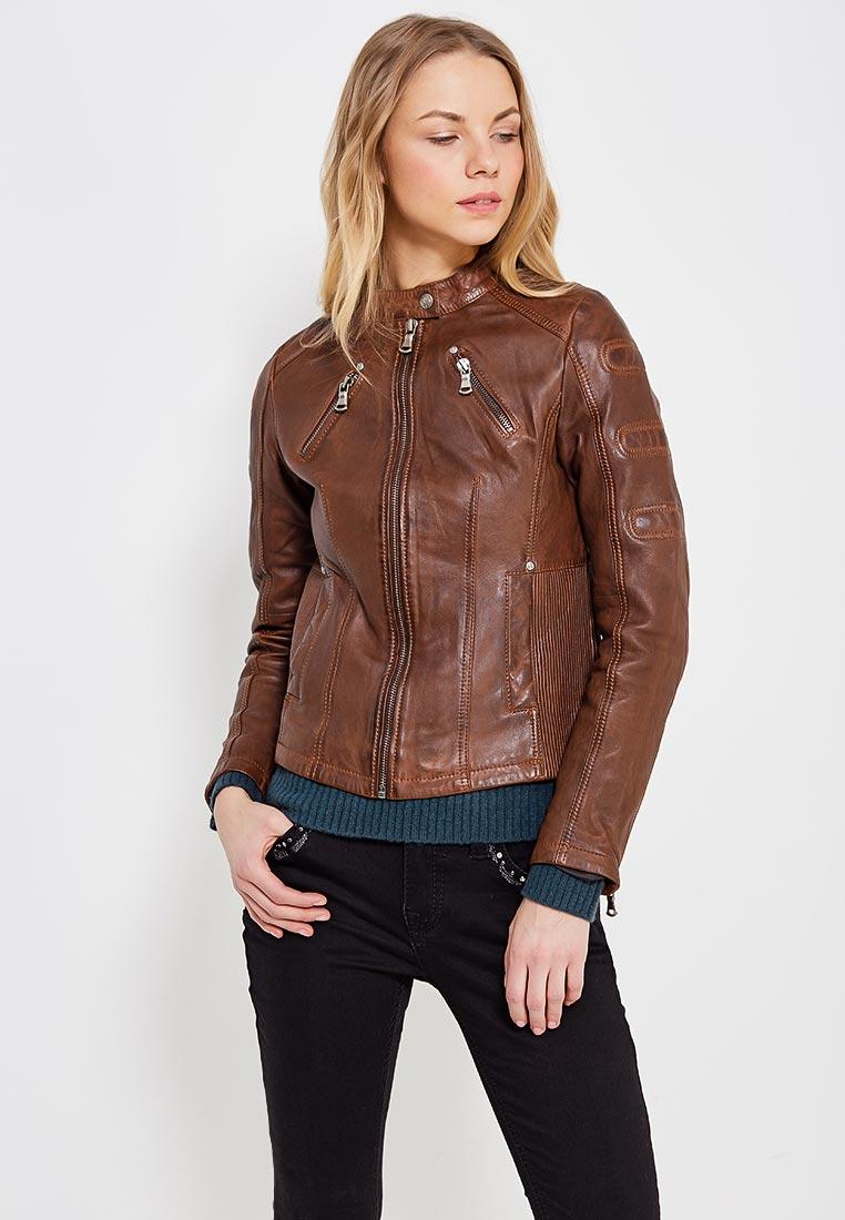 Кожаная куртка Blue Monkey BM72-564/brown-XS