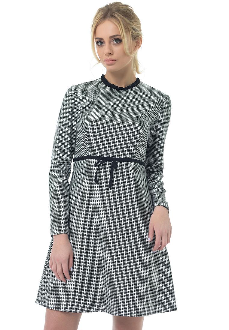 Повседневное платье GENEVIE Платье L 9532 Черный Белый L