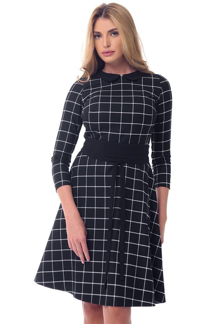 Платье-миди GENEVIE Платье  09557 Черный белый L