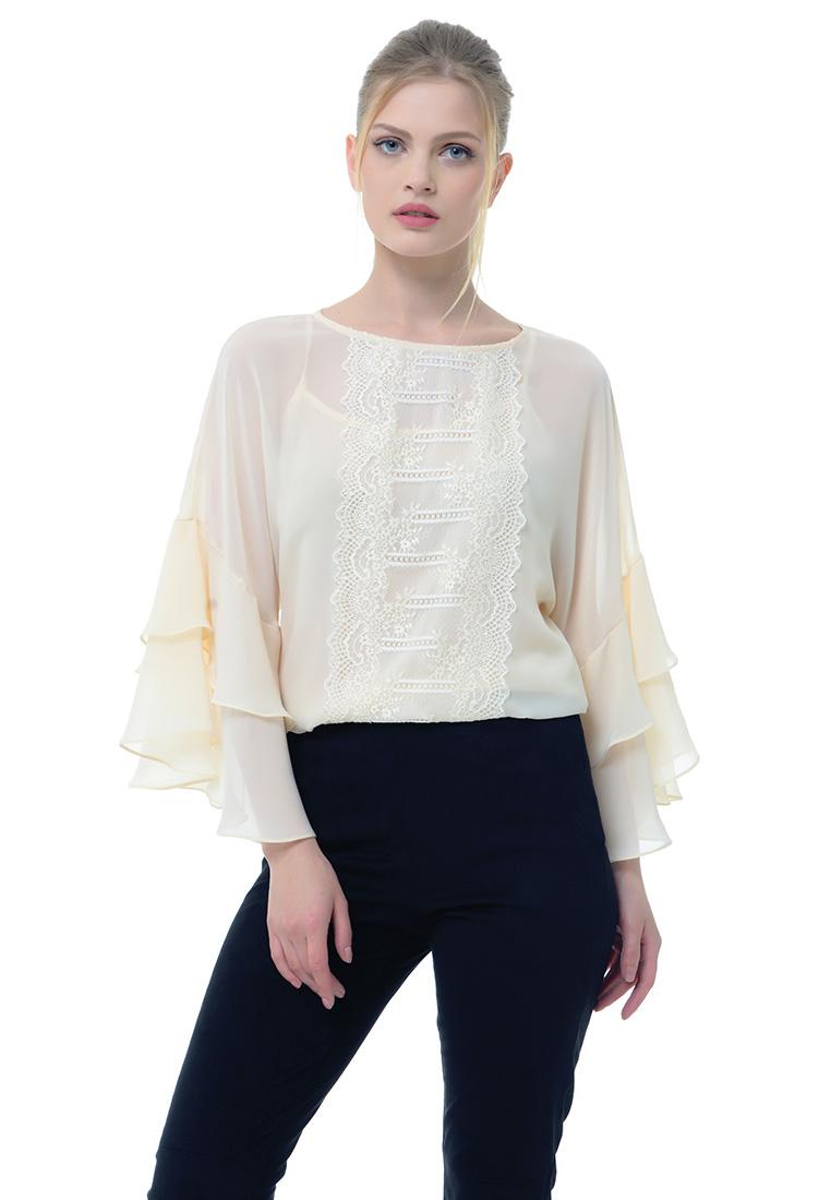 Женские боди Arefeva Блуза-боди 05204 светло- желтый L