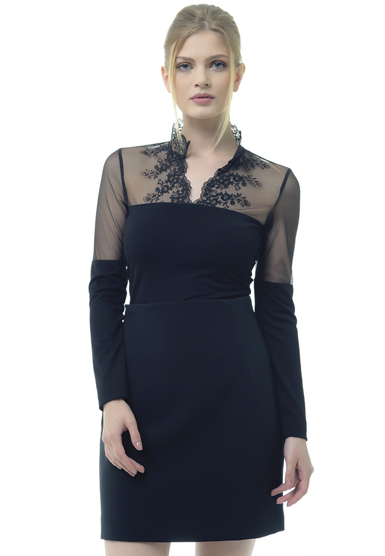 Женские боди Arefeva Блуза-боди A5211 черный L
