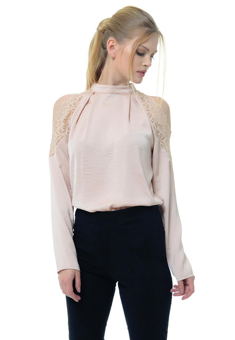 Женские боди Arefeva Блуза боди  A5201 Бежевый Розовый L