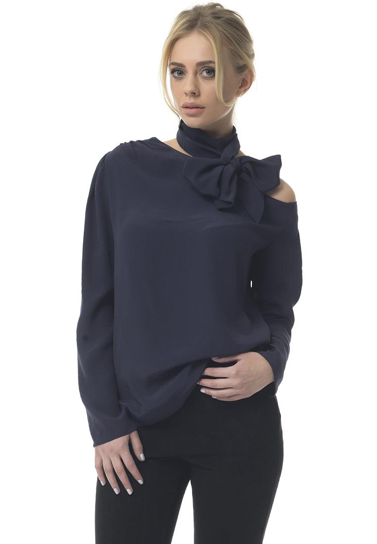 Блуза GENEVIE Блуза L 7506 темно-синий  L