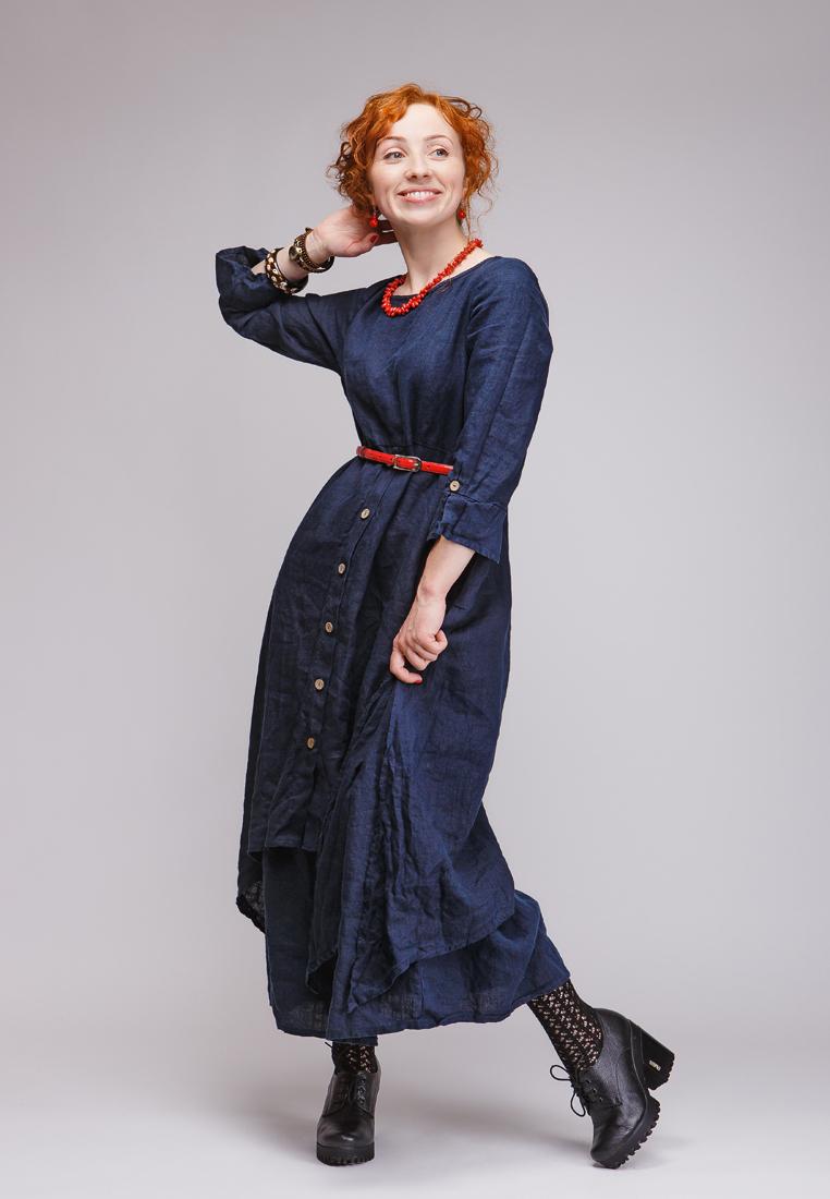 Летнее платье Kayros 4/4индиго-48-50